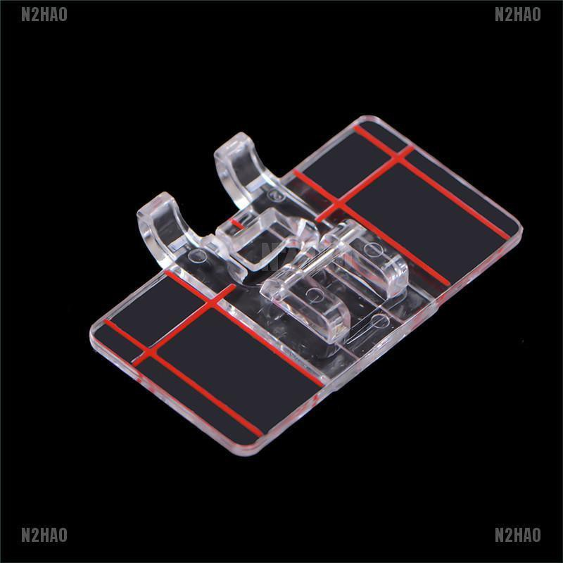 2Pcs Clear Plastic Parallel Stitch Foot Presser For Home Domestic Sewing Machine