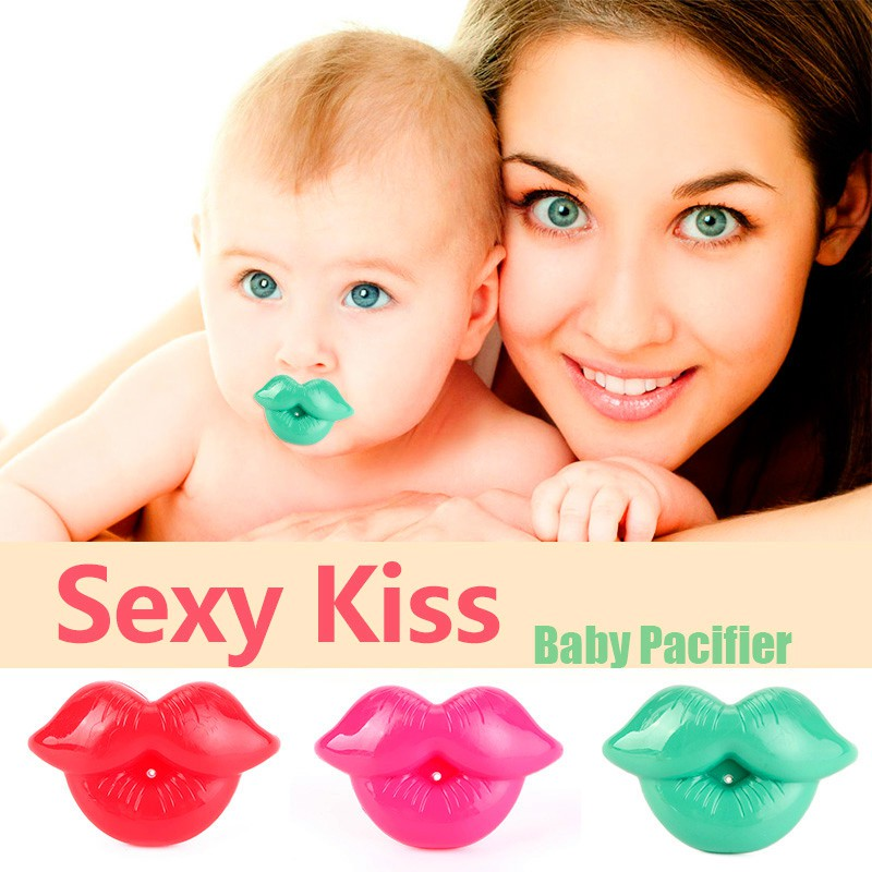 Funny Baby Teether Toddler Infant Pacifier Dummy Lip Nipple Soother Silicone
