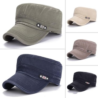 Men Women Vintage Military Adjustable Cadet Hat Army Outdoor