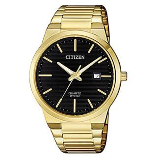 Citizen Men S Black Dial Stainless Steel Band Watch Bi5062 55e
