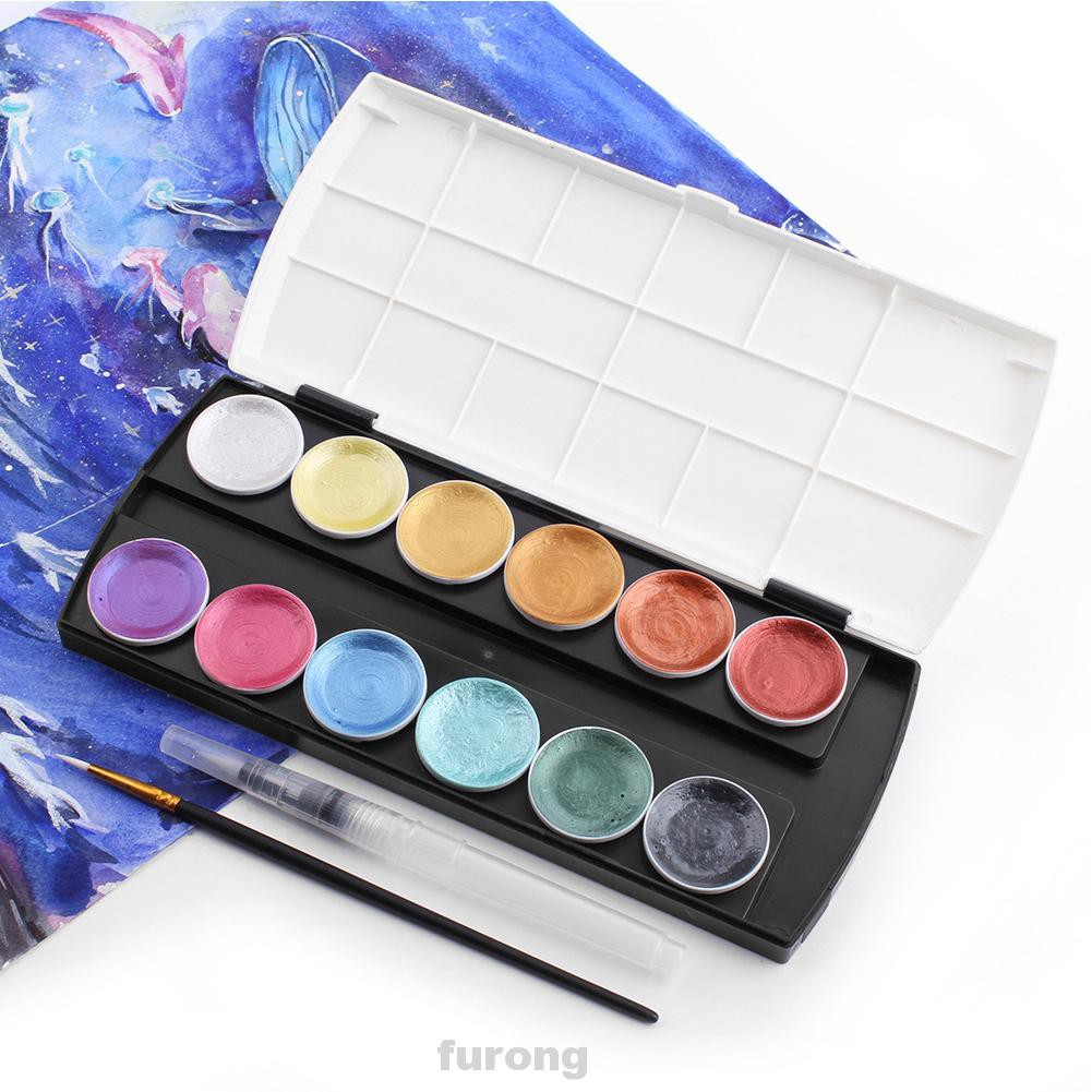 12 Colors Solid Professional Stationery With Box For Artists Metallic Glitter Watercolor Paint Set Shopee Singapore