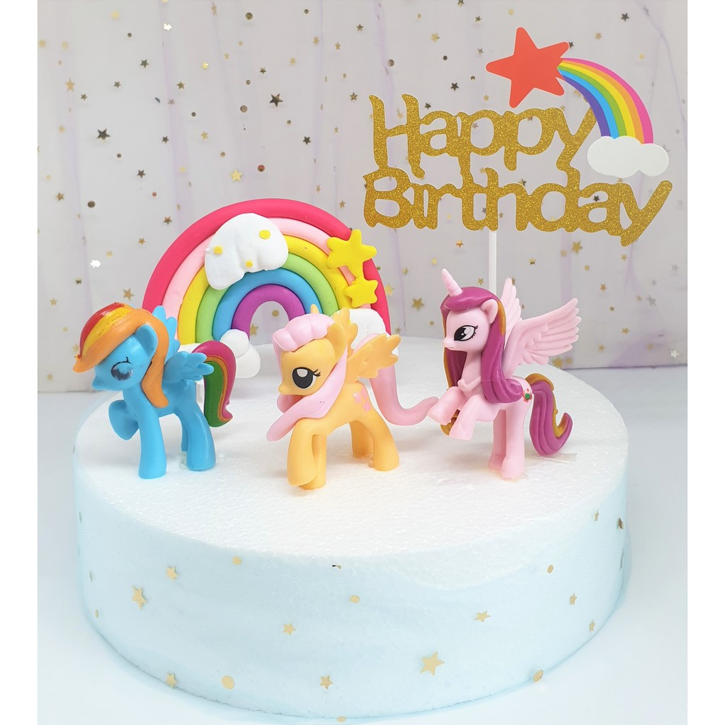 Surprising My Little Pony With Happy Birthday And Rainbow Cake Topper My Funny Birthday Cards Online Sheoxdamsfinfo