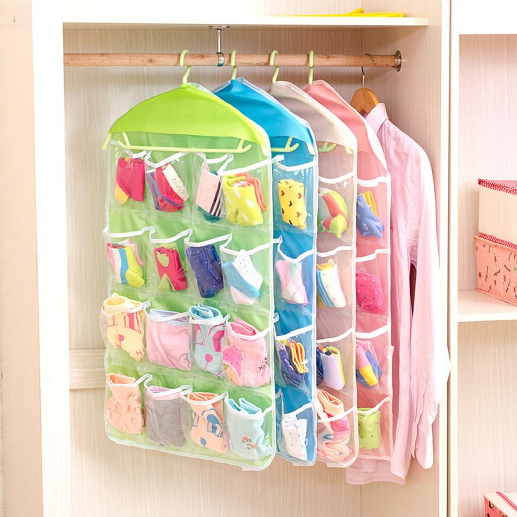 Hanger Hanging Holder Wardrobe Storage Organiser Shelf Bra Clothes Bag Closet