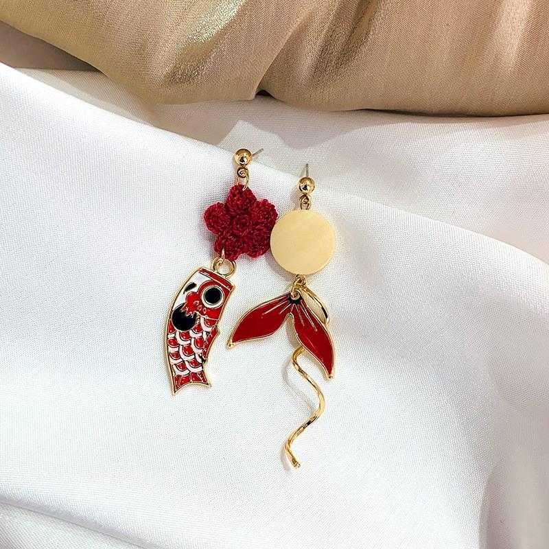 Fairy Castle Minimalist Original Handmade Blue Crystal Earrings