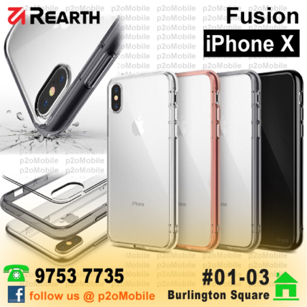 Rearth Ringke Fusion For Iphone X Shopee Singapore 7 Plus Slim Gloss Black