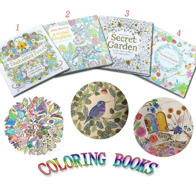 Secret Garden An Inky Treasure Coloring Painting Book