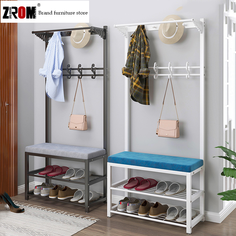 9 9 Limited Time Discount Shoe Changing Stool And Coat Rack Integrated Home Shoe Rack Cabinet Storage Shoe Cabinet Hanging Bag Shelf Metal Multi Layer Shoe Bench Shopee Singapore