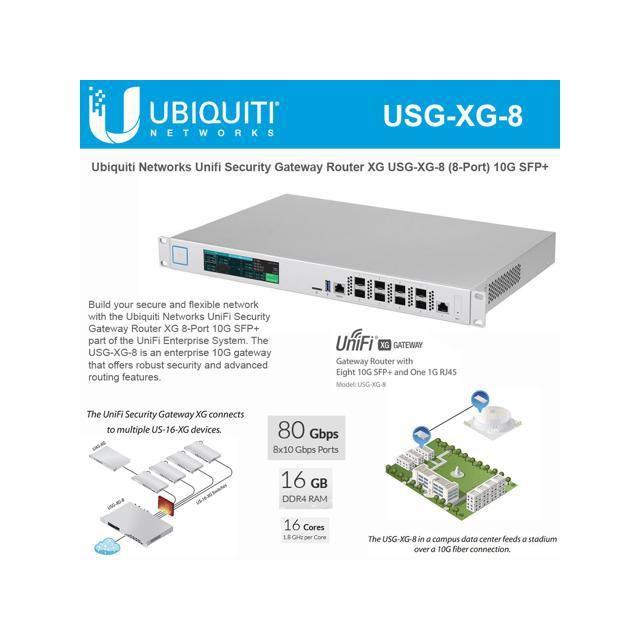 USG-XG-8 Ubiquiti UniFi XG Gateway Router 8 Port 10G SFP+ UBNT Singapore