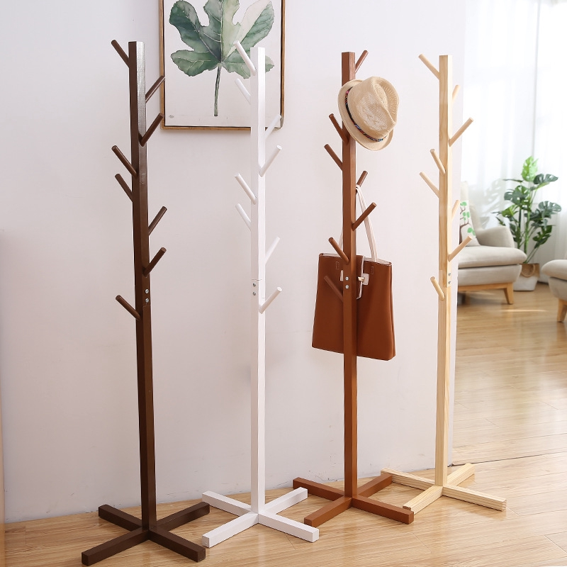 Solid Wood Clothes Rack Creative Modern Hanging Clothes Rack