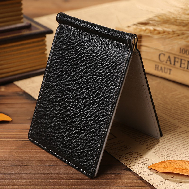 18K Gold Plated Mens Classic Surgical Steel Cash Money Clip Credit Card Holder Wallet