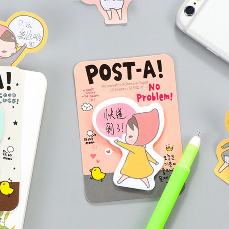 Nice Cute Kawaii Cartoon Animal Finger Unicorn Memo Pad Note Sticky Paper Korean Stationery Cat Planner Sticker School Office Cool In Summer And Warm In Winter Notebooks & Writing Pads Office & School Supplies