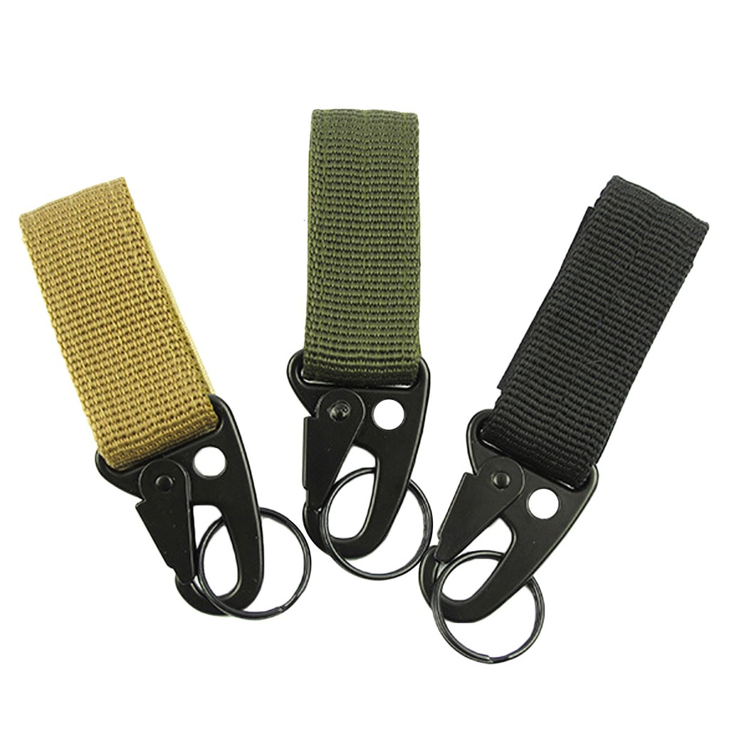 Athletic Bags Sports Bags Military Multifunctional Buckle Webbing Straps High Strength Nylon Molle Water Bottle Carabiner Belt Hanging Keychain Key Hook Large Assortment