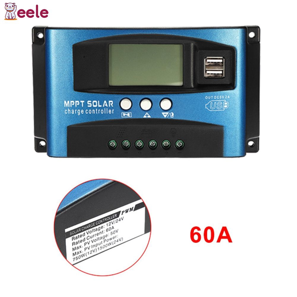 Mppt Auto 60a Solar Controller 12v24v Charge Discharge Display Circuit Diagram Simple Alsg Shopee Singapore