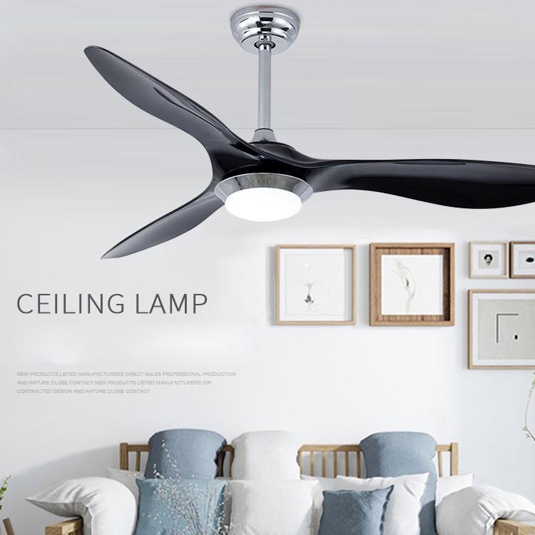 52 Inch Flush Mount Fan With Led Light Kits Creative Ceiling Fan Lamp Shopee Singapore