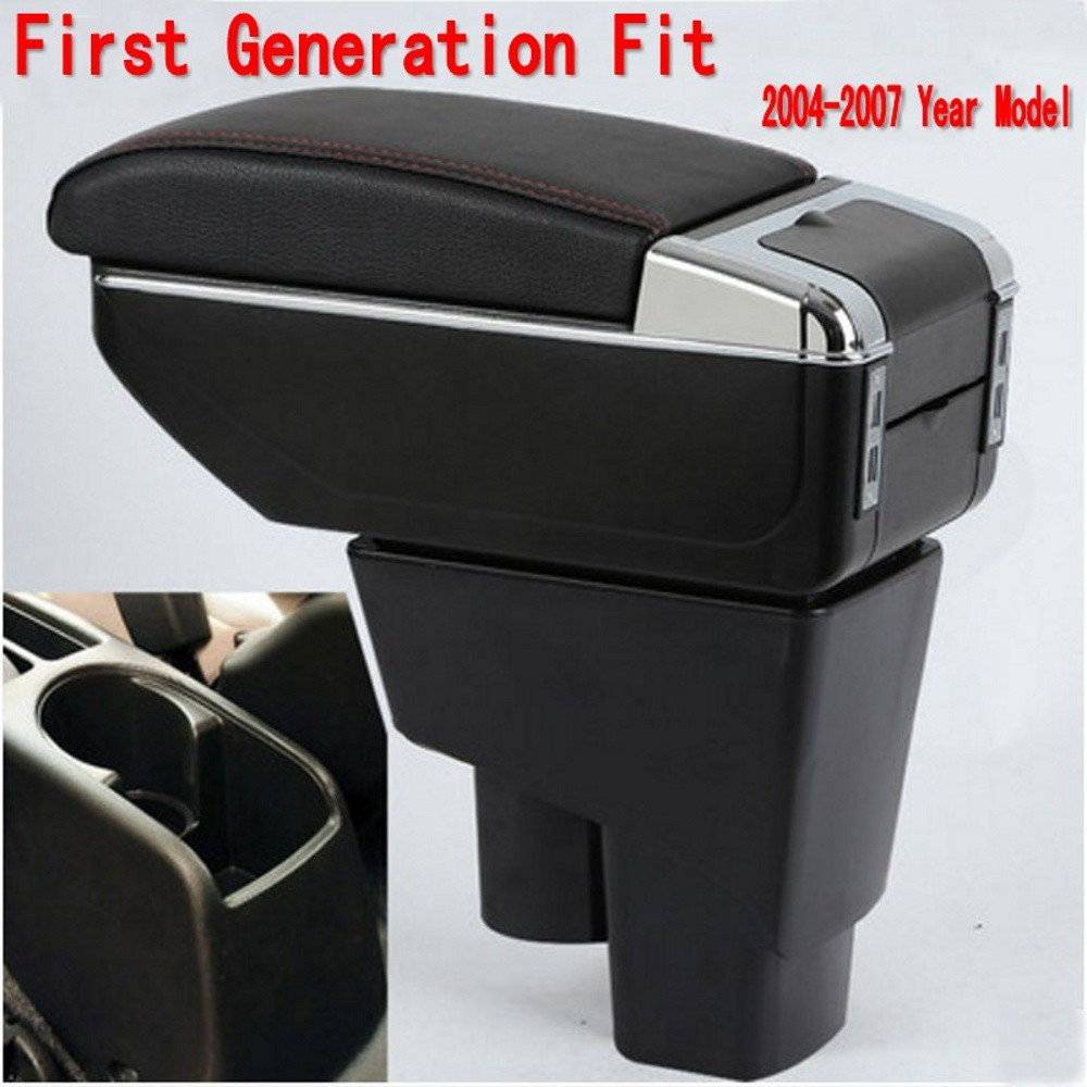 For Fabia 3 2015-2017 Armrest Box Consoles Storage with Cup Holder Ashtray