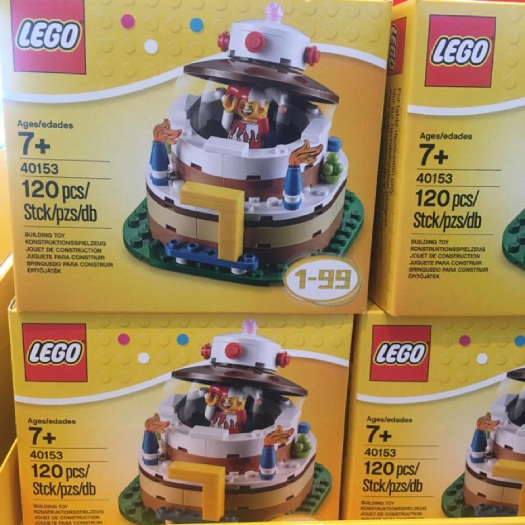 Brand New Lego Birthday Cake Table Decoration Set 40153