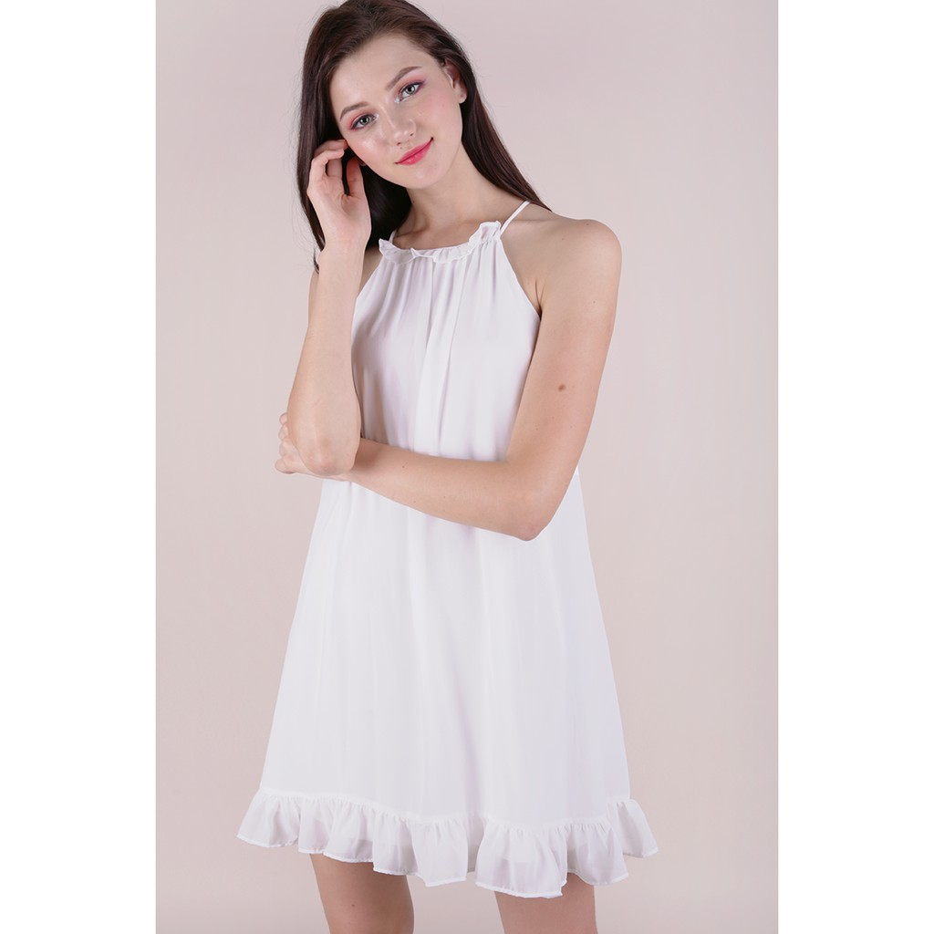 af885c5eb43 The Tinsel Rack Ellery Trapeze Dress in White