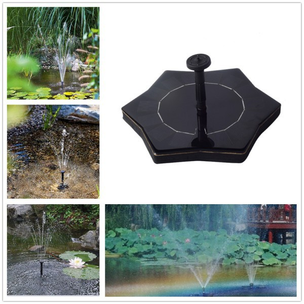 Lumiparty Outdoor Solar Powered Starfish-shape Floating Fountain For Pond Garden Decoration Novelty Lighting
