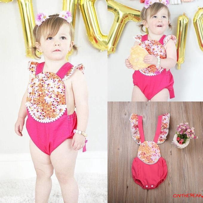 Newborn Break Dance Short Sleeve Climbing Clothes Playsuit 100/% Cotton Suit 6-24 Months