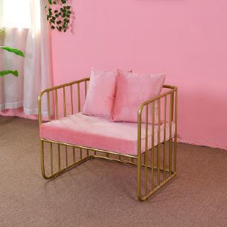 Modern Iron Sofa Net Red Designer Chair