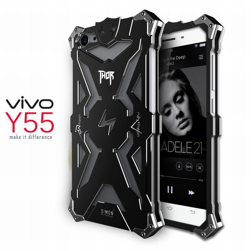 Metal phone case for VIVO Y55 Anti-drop shockproof protective cover shell