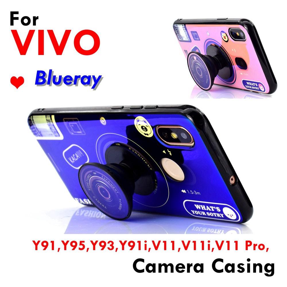 Vivo Y91,Y95,Y93,Y91i,V11,V11i,V11 Pro,Blueray Soft Camera Case