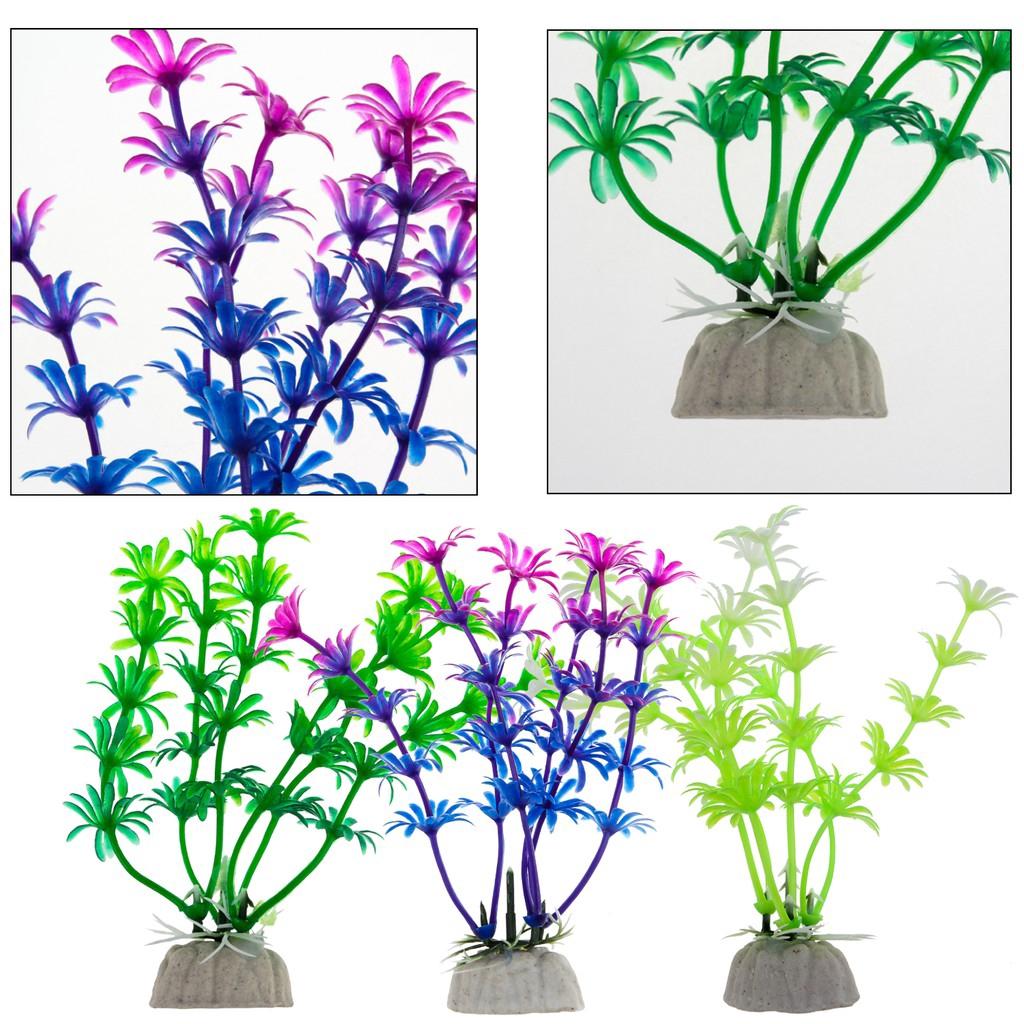 1pc Fish Tank Aquarium Ornament Decor Simulation Water Weed Plants Plastic Grass