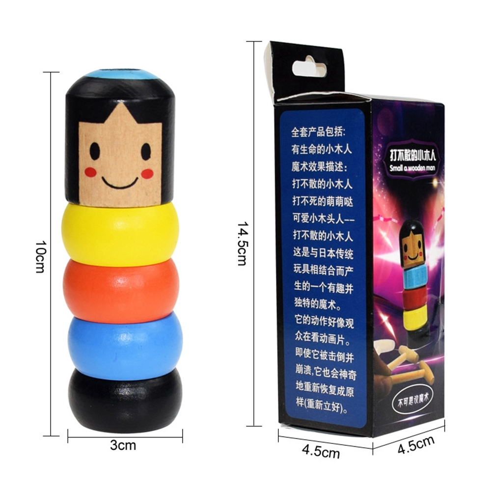 Funny Unbreakable Wooden Magic Toy The Wooden Stubborn Man Toy Halloween Sale