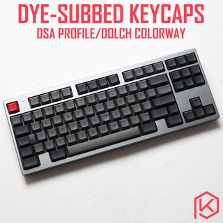 Axis Body : 26kyes, Color : Black Keyboard keycaps Printed Dsa Keycap 26 Keys Dsa Profile for Mechanical
