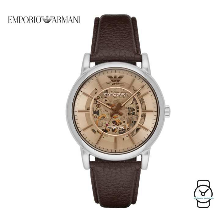 b8a19262 100% Original) Emporio Armani Men's AR1982 Luigi Automatic Leather ...