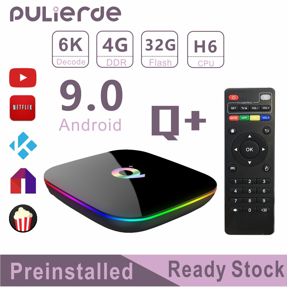 🔥PRE-INSTALL🔥 Q+ Android 9 0 TV H6 4G+32G/64G 6K Box 4 Core 64bit