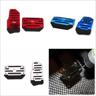 1 Pair Vehicle Pedal Car Auto Aluminium Alloy Non-slip Foot Brake Decals  Cover