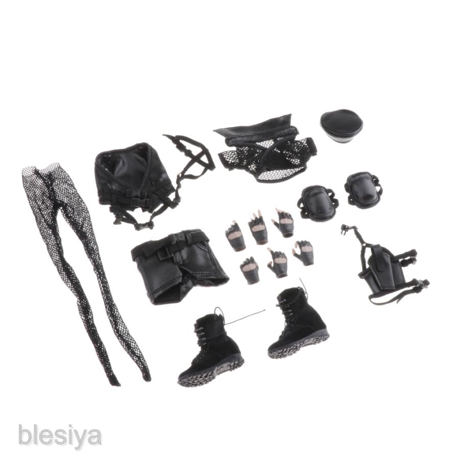 Black Fishnet Stockings 1//6 Scale Toy  Battlefield Girl