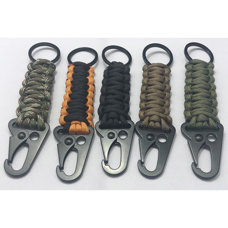 Portable Paracord Carabiner Clip Key Chain Hook Clip Outdoor Camping Hiking