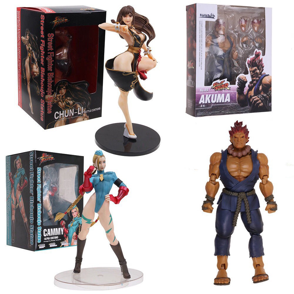 Kotobukiya Street Fighter Chun Li Cammy Alpha Costume Akuma Gouki Pvc Figure Shopee Singapore