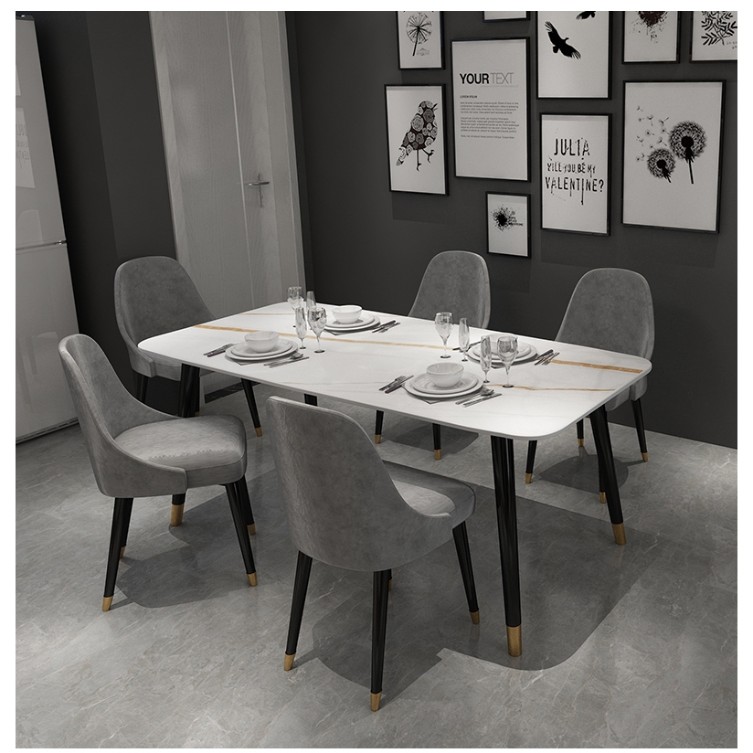 Dining Table Italian Slate Dining Table Minimalist Luxury Dining Table Home High End Restaurant Marble Dining Table Four Modern Dining Table Shopee Singapore