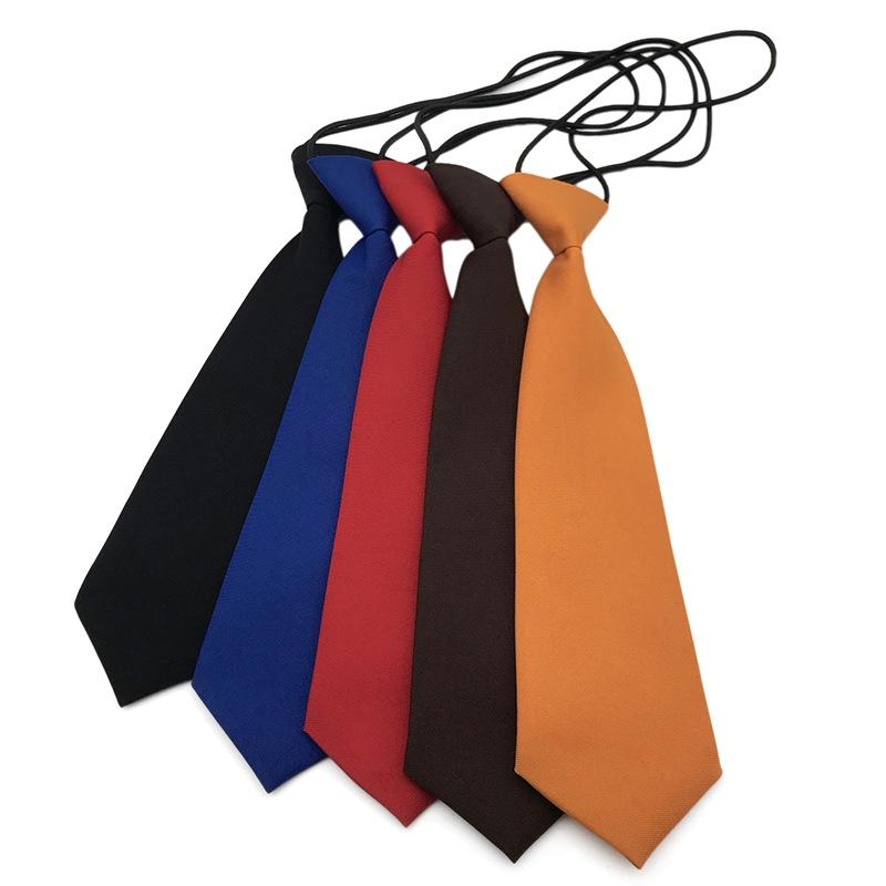 Solid Color Boys Kids Children Elastic Tie Necktie Red