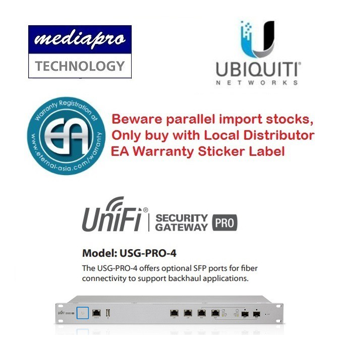 Ubiquiti USG-PRO-4 Security Gateway Pro - Enterprise Router Local Agent  Warranty