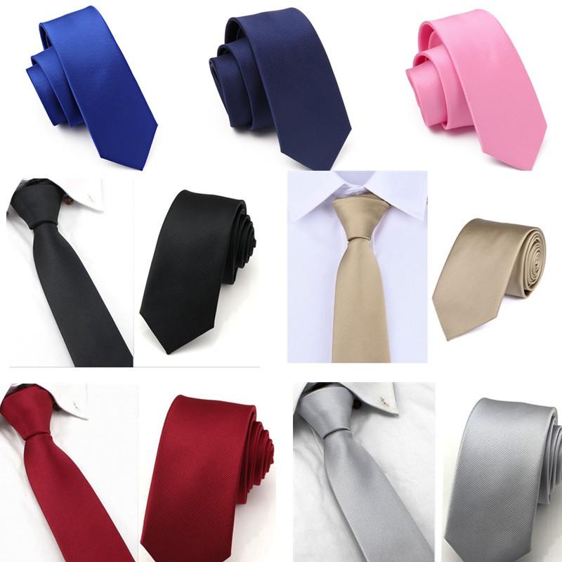 Men 5CM Wide Necktie Zipper Wedding Business Formal Tie Solid New Trendy Gifts