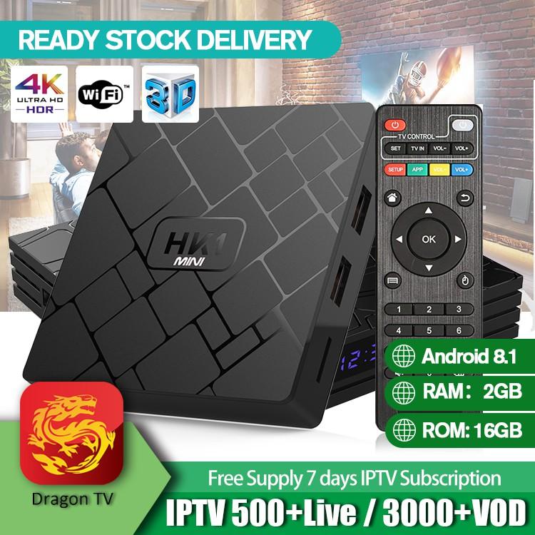 HK1 MINI Android 8 1 Smart TV Box RK3229 Quad-core 2GB 16GB 4K HD Built in  Wifi UK Plug