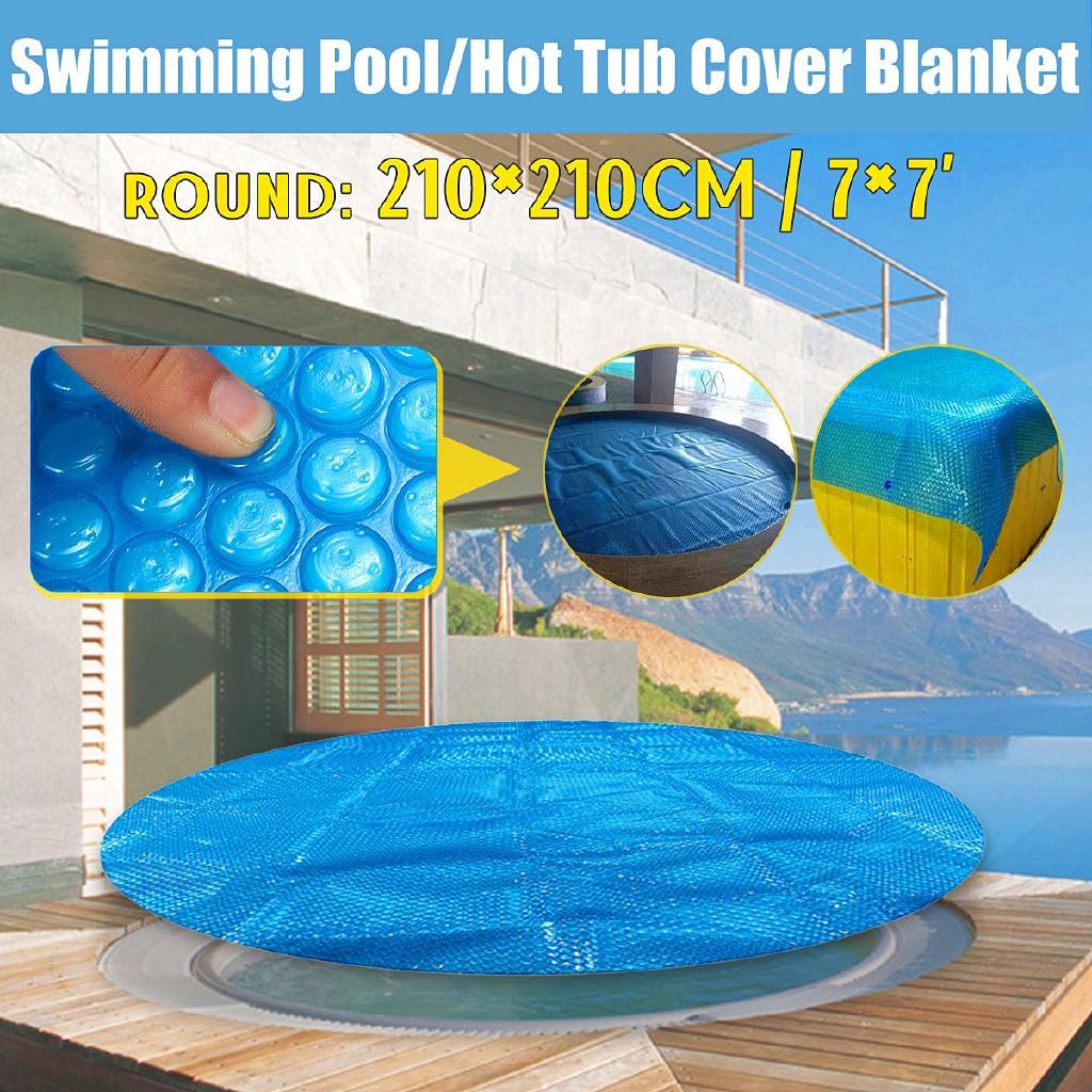 ☀🌴🌷7\' Spa Hot Tub Thermal Bubble Solar Blanket Cover Round Heat Retention  Anti-UV