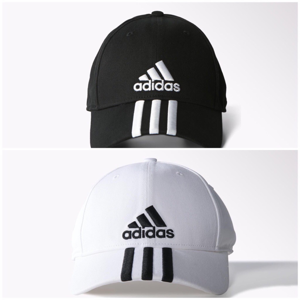 133cc3107 ADIDAS PERFORMANCE 3-STRIPES CAP (BLACK/WHITE)
