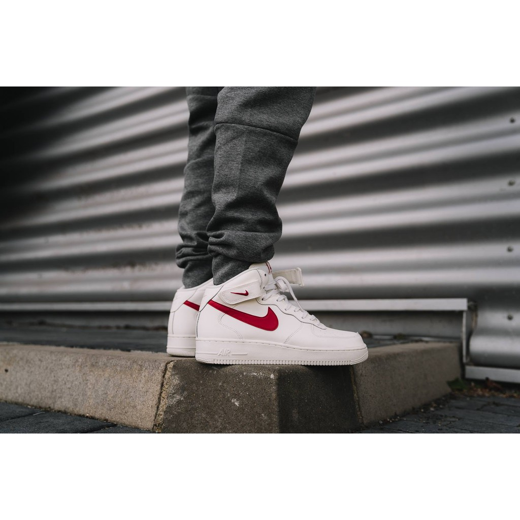 Monumento Sophie amanecer  NIKE AIR FORCE 1 MID 07 SAIL UNIVERSITY RED PREMIUM QUALITY | Shopee  Singapore