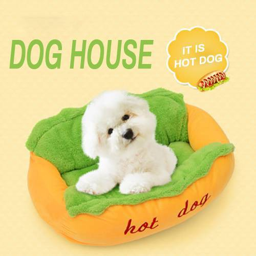 Hot Dog Washable Cotton Kennel Dog Nest Puppy Pet Bed House Warm Cushion  Pad Mat S/L