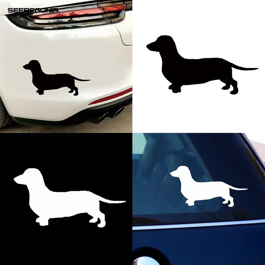 window,Car,Laptop Animal Dog Pet Sticker Dachshund I Was Normal