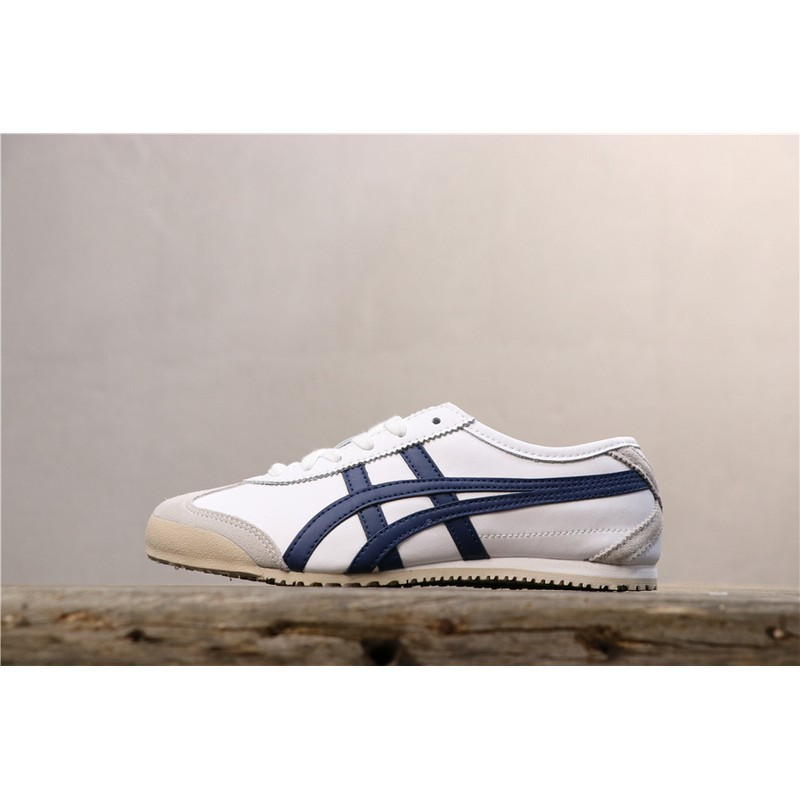 huge discount 010fd 50c5c Asics original Onitsuka Tiger MEXICO 66 SLIP-ON leather Casual shoes White  Red