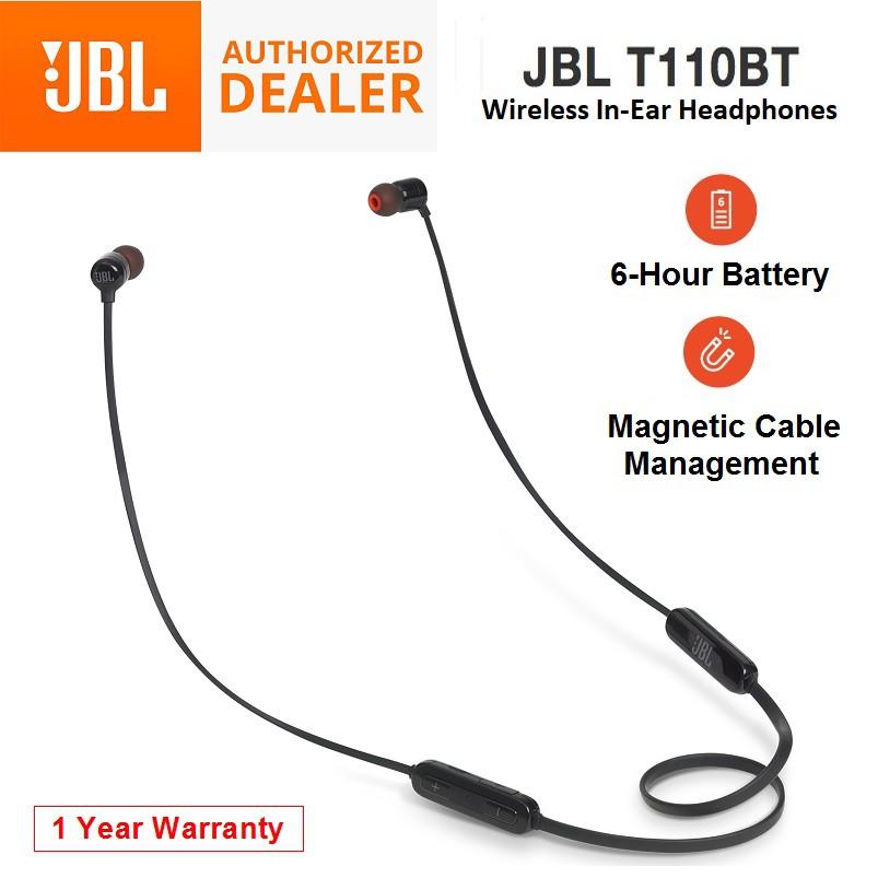 JBL T110BT Wireless Bluetooth In-Ear Headphones Headset 12 Months Warranty
