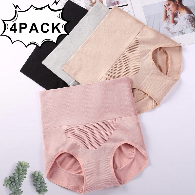 fcb176a9da2b Women Cotton Panty High Waist Breathable Trigonometric Panties Female  Underwear Body Shaping Briefs | Shopee Singapore