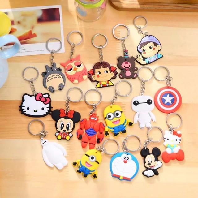 Cute Cartoon Disney Marvel Key Chain BTS BT21 KPOP Key Ring PVC Keychain