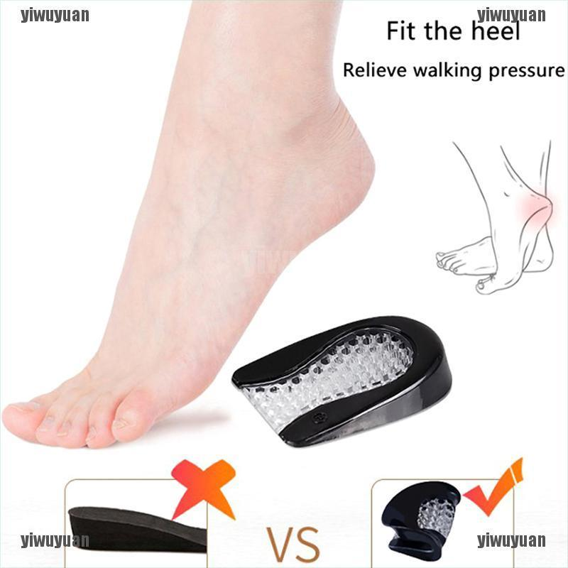 Silicone Gel Heel Cushion Protector Foot Feet Care Shoe Insert Pad Insole